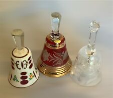 Group Of Three Beautiful Crystal Bells