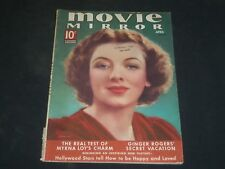 1938 APRIL MOVIE MIRROR MAGAZINE - MYRNA LOY COVER - H 555