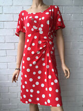 LEONA EDMISTON Beautiful Polka Dot Party Christmas New Year Dress Size 18, RARE!