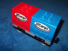 LEGO Duplo großer Cargo Cargowaggon Waggon Intelli BLAU ROT 2 Aufsätze 3326