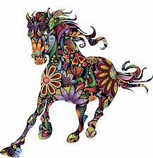 Multi Coloured Horse, Diecut vinyl adhesive sticker decal  110x110mm