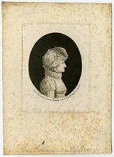 Antique Master Print-PORTRAIT-PHYSIONOTRACE-WILLMANN-BARONESS-Quenedey-1811