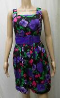 DOROTHY PERKINS size 8 - sleeveless short summer dress and belt - cotton floral
