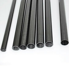 Carbon Fiber Tube OD 20mm x ID 14mm x 500mm 3K Glossy Twill 20x14x500