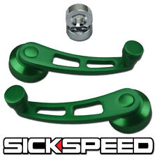 2 GREEN BILLET ALUMINUM WINDOW CRANK HANDLE WINDER FITS HONDA CIVIC/DEL SOL