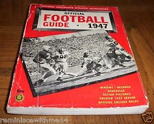 1947 OFFICIAL COLLEGIATE FOOTBALL GUIDE - AL HOISCH - UCLA - ROSE BOWL RECORD