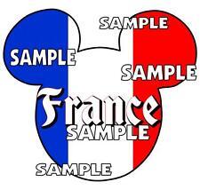Disney Epcot France Mickey Ears Scrapbook Paper Die Cut Embellishment Piece