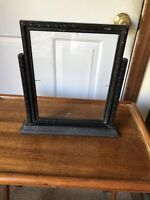 Vintage Desk Top Wood Swing Type Picture Frame With Glass- Black
