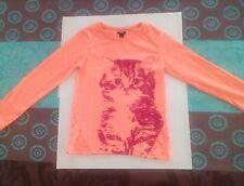 """Joli t-shirt fille motif """"CHATON"""" taille 8 ans marque """"KIABI"""" en excellent état"""