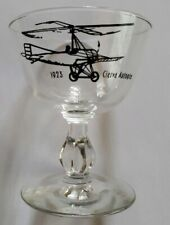 1923 Cierva Autogiro Vintage Plane Aviation Glass