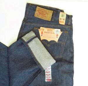 Vintage LEVIS 501xx Shrink to Fit Button Fly Jeans USA 1993 42x32 Deadstock