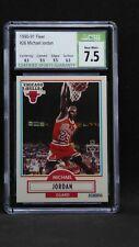 LOT (4) 1989-90-91-92 basketball NBA Hoops & Fleer Michael Jordan CSG 9 subs