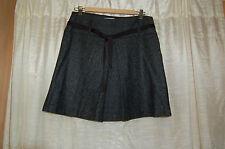 Kookai Wool Blend Gray Tweed Mini Skirt Size 38