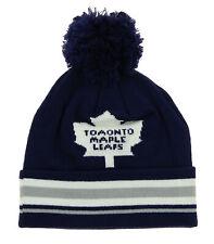 Reebok NHL Youth Toronto Maple Leafs Cuffed Knit Hat With Pom, DEFECTIVE