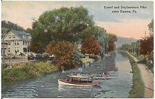 Canal and Doylestown Pike Near Easton PA Postcard