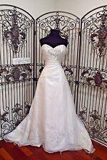 A888W DERE KIANG 1480 DIA WHITE MULTI SZ 12  FORMAL WEDDING GOWN DRESS
