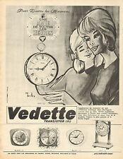 Publicité Advertising 1966  Vedette Transistor réveil pendule horloge montre