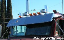 Freightliner FLD Flat Top Drop Visor Stainless Steel