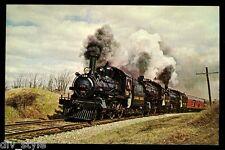 Canadian Pacific #136 steam locomotive train postcard