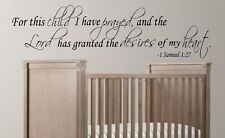 """FOR THIS CHILD I Vinyl Wall Decal Words Lettering Quote Saying Sticky 10"""" x 36"""""""