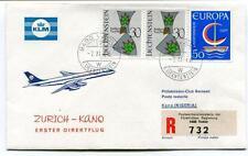 FFC 1966 KLM Royal Dutch Airlines Volo Speciale Zurich Kano Nigeria - Vaduz
