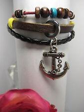 Armband Leder Schmuck Armbänder Damen Herren Modeschmuck Armreif Surferarmband