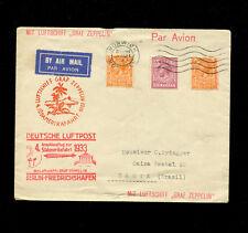Zeppelin Sieger 223 1933 4th South America Flight Great Britain treaty dispatch