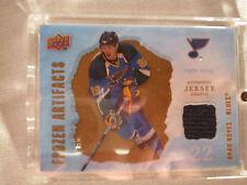 2008-09 UD Artifacts Hockey #FA-BO Brad Boyes! Frozen Jersey St. Louis Blues