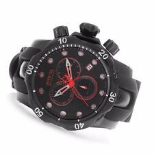 INVICTA RESERVE MENS 52MM VENOM CHRONO RED LINE EDITION BLACK BAND WATCH 18881