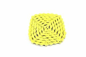 CN020YL Bicycle Chain 1/2x1/8 Single Speed 1/8 yellow Fixed BMX Cruiser Classic