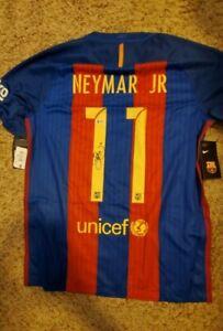 Neymar Jr. Autographed Signed Nike FC Barcelona Home Jersey with Beckett LOA NWT