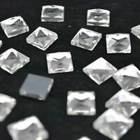 Crystal Clear Square Rhinestone Flat back Facet Glass Strass Coating Nail Art