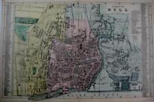 Map Plan of Kingston Upon Hull Yorkshire Humberside 1735 Reprint 10x8 Inch