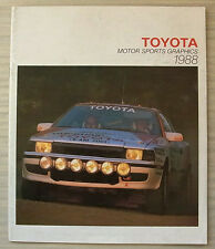 TOYOTA MOTOR SPORTS GRAPHICS 1988 Rallying Racing LF Publicity Brochure
