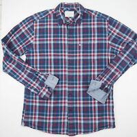 COLORADO Mens Shirt Size S Button Up Long Sleeve - Regular Fit - Blue Check -VGC