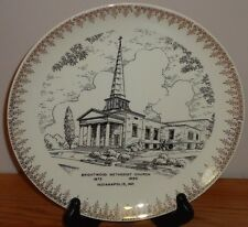 """Brightwood Methodist Church Indianapolis Indiana vintage collector's plate 9.25"""""""