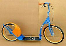 "Adult Kick Scooter Kick Bike 20"" Wheels Blue and Orange"