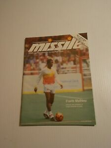 1986 BALTIMORE BLAST GAME PROGRAM MISSLE MISL SOCCER Frantz Mathieu
