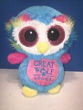 "Great Wolf Lodge Plush Stuffed Colorful Owl 10"""