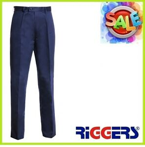 3 x RIGGERS Cotton Drill Work Trousers Pants Navy Wholesale Bulk