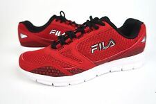 FILA Men's Direction M  Running Shoes Red Black Metallic Silver Size 10 NEW