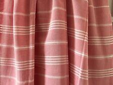 "NEW High-quality Pink & White Beach Towel- Peshtemal - 66"" x 41"""