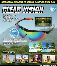 CLEAR VISION tactical  sunglasses perfect for men and women CLARITY