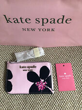 KATE SPADE CAMERON GRAND FLORA MEDIUM L-ZIP CARD HOLDER SERENDIPITY PINK MULTI