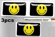 3pcs Auto KFZ Car Sticker Logo Abzeichen Aufkleber >Smiled Universal* >1A-Qualy<