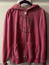 Girls Hello Kitty Pink Sequin Track Suit Velour Hoody Set Size 6X