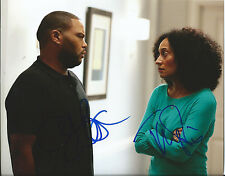 TRACEE ELLIS ROSS & ANTHONY ANDERSON dual signed BLACK-ISH 8x10 photo w/COA
