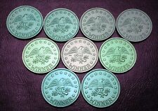 Lot of 9x Wildwood Variety Corner Arcade Winner Gaming Tokens - Great Condition