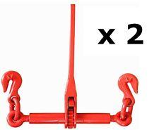 2 x Ratchet Load Binder 8 - 10mm Diameter Chain Truck Straps Loadbinder Tie Down