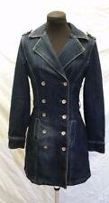 JouJou Jeans Premium Denim Double Breasted Coat Womens Size S Blue Jean Jacket